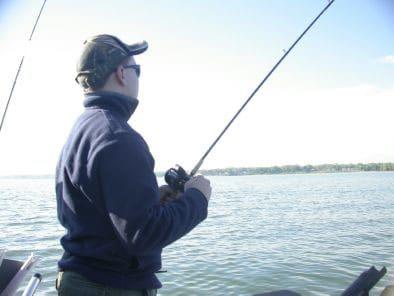 Danny on a Lake Ontario Fishing Charter