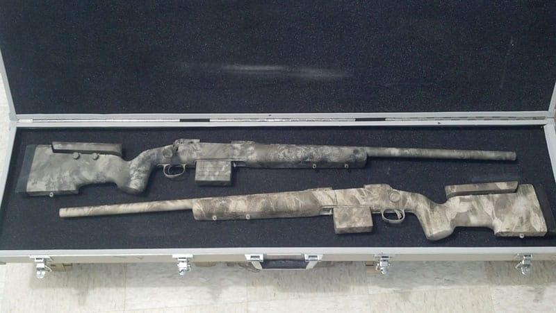 Photo Gallery of Custom Work by Dark Eagle Custom - Pair of Savage 260 Remingtons